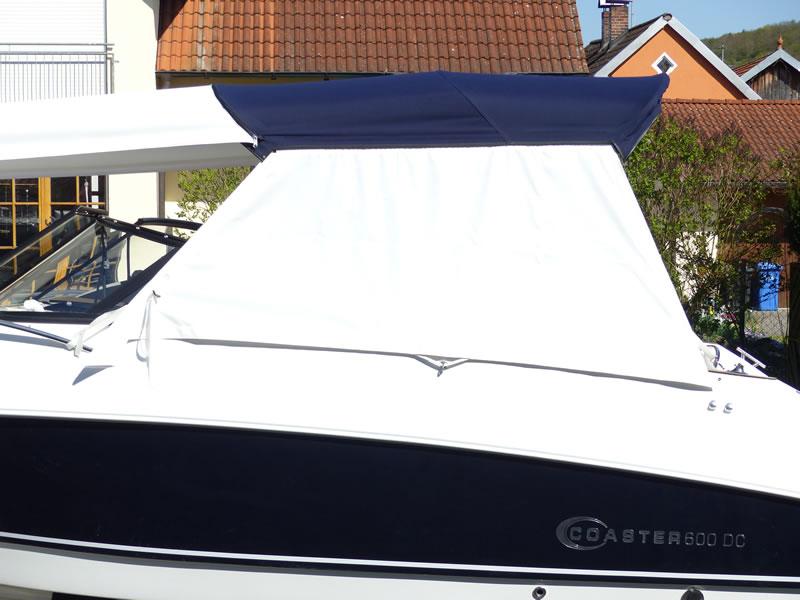 Bimini Coaster 600 DC seitlicher Sonnenschutz Sonnenverdeck 05