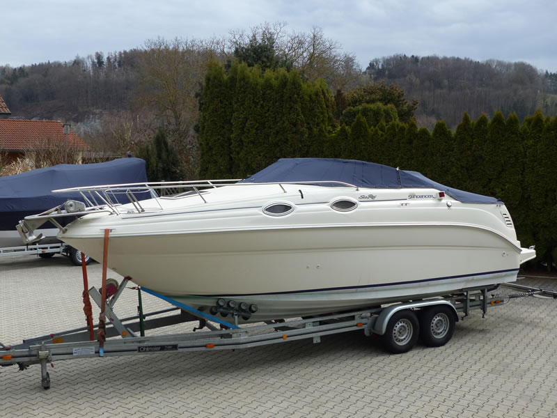 Persenning Sea Ray 240 DA Sundancer Bootspersenning 04