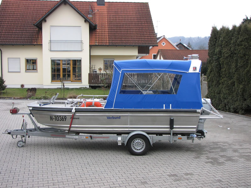 Verdeck Barro RTB 500 Aluminiumboot Bootsverdeck Persenning 03