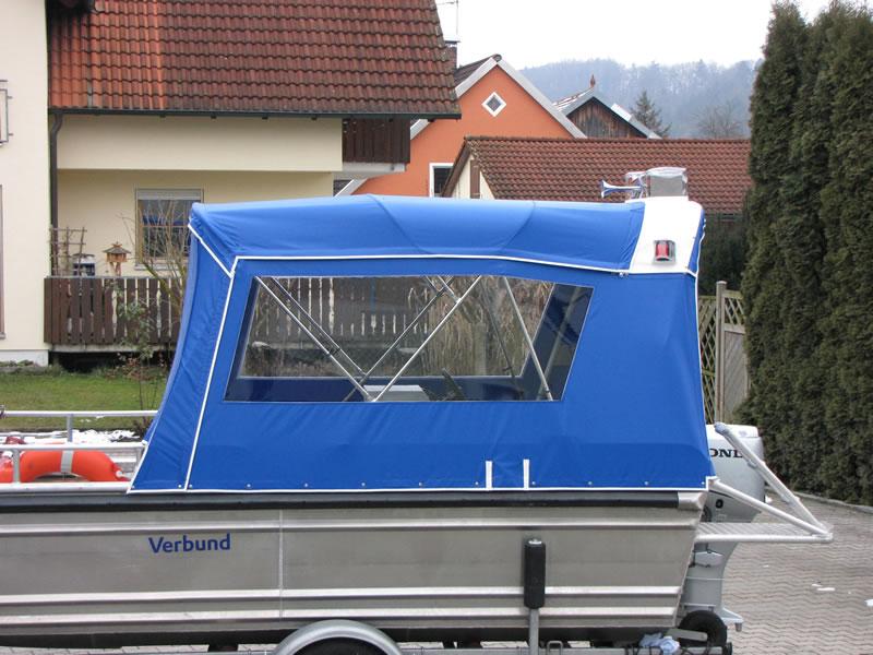 Verdeck Barro RTB 500 Aluminiumboot Bootsverdeck Persenning 04
