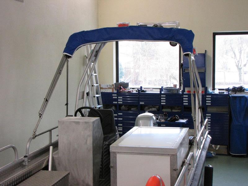 Verdeck Barro RTB 500 Aluminiumboot Bootsverdeck Persenning 19