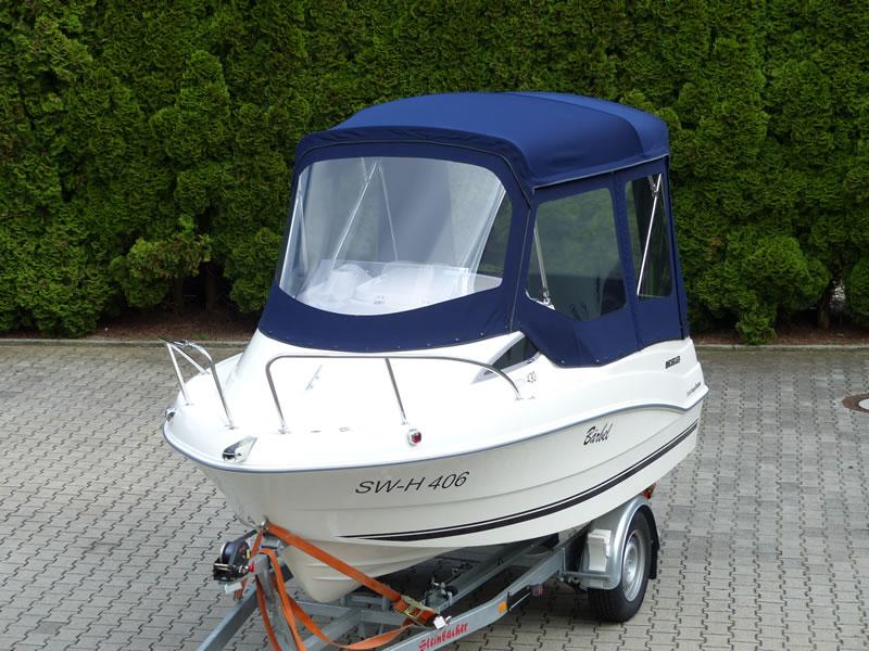 Verdeck Quicksilver activ 430 cabin Bootsverdeck Persenning 04