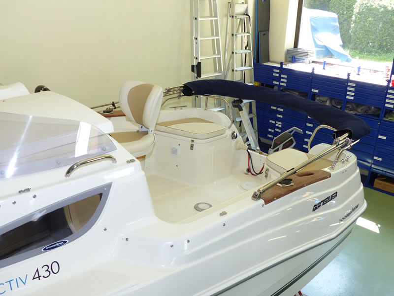 Verdeck Quicksilver activ 430 cabin Bootsverdeck Persenning 18
