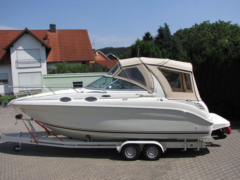 Verdeck Sea Ray 260 Sundancer Persenning  02
