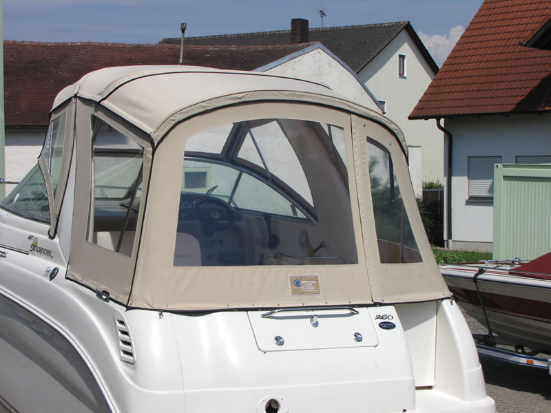 Verdeck Sea Ray 260 Sundancer Persenning  10