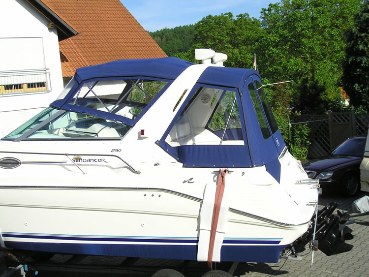 Verdeck Sea Ray 290 Sundancer Persenning 14