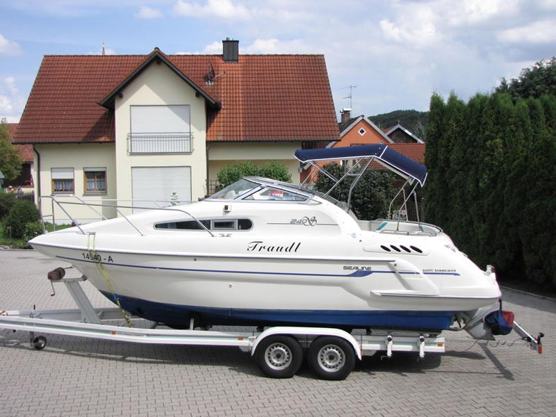 Verdeck Sealine S240 mit Bimini Bootsverdeck Persenning 18