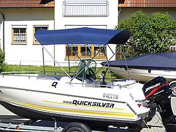 Bimini mit Seitenteilen Quicksilver 500 Commander Open Sonnvenverdeck 11