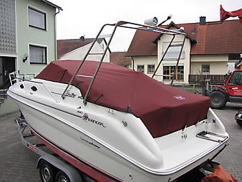 Persenning Sea Ray 240 DA Sundancer Bootspersenning 06