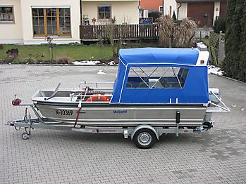 Verdeck Barro RTB 500 Aluminiumboot Bootsverdeck Persenning 02