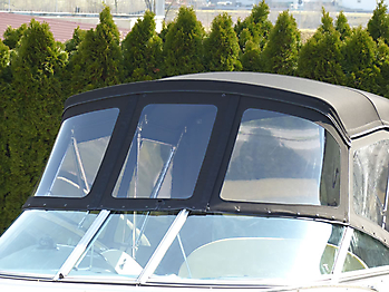 Verdeck Crownline 250 CR mit Edelstahlgestaenge Persenning 25
