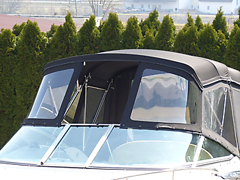 Verdeck Crownline 250 CR mit Edelstahlgestaenge Persenning 27