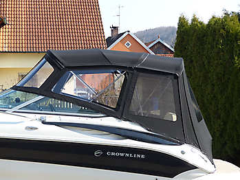 Verdeck Crownline 250 CR mit Edelstahlgestaenge Persenning 33