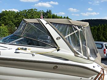 Altes Originalverdeck Crownline 270 CR zum direkten Vergleich 01