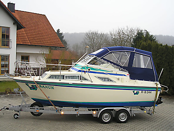 Verdeck Fairline Holiday 24 Persenning  05