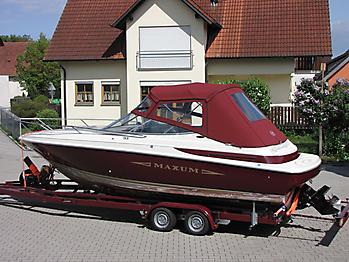 Verdeck Maxum 2300 SC Bootsverdeck Persenning 14
