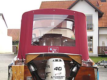 Verdeck Nixe Holzboot Persenning 04