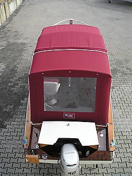 Verdeck Nixe Holzboot Persenning 05