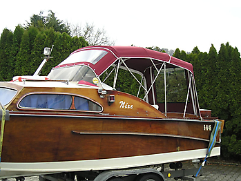 Verdeck Nixe Holzboot Persenning 06