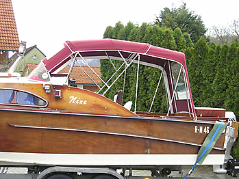 Verdeck Nixe Holzboot Persenning 07