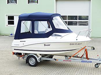 Verdeck Quicksilver activ 430 cabin Bootsverdeck Persenning 06
