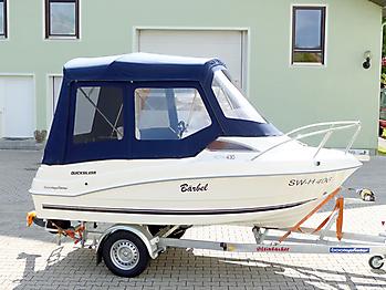 Verdeck Quicksilver activ 430 cabin Bootsverdeck Persenning 15