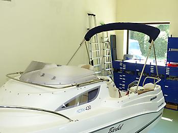 Verdeck Quicksilver activ 430 cabin Bootsverdeck Persenning 16