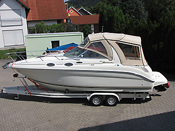 Verdeck Sea Ray 260 Sundancer Persenning  01