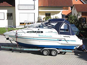Verdeck Sealine 240 Bootsverdeck Persenning 01