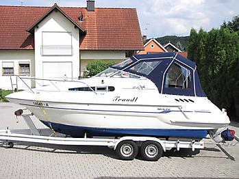 Verdeck Sealine S240 mit Bimini Bootsverdeck Persenning 03
