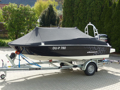 bayliner element drei persenningstuetzen