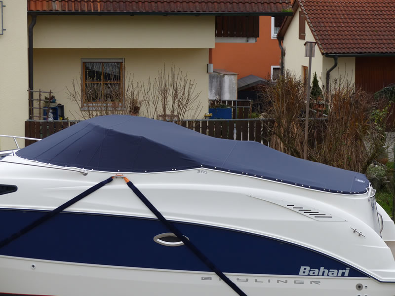 Persenning Bayliner 265 Weathermax 80 admiralblau Bootspersenning 04