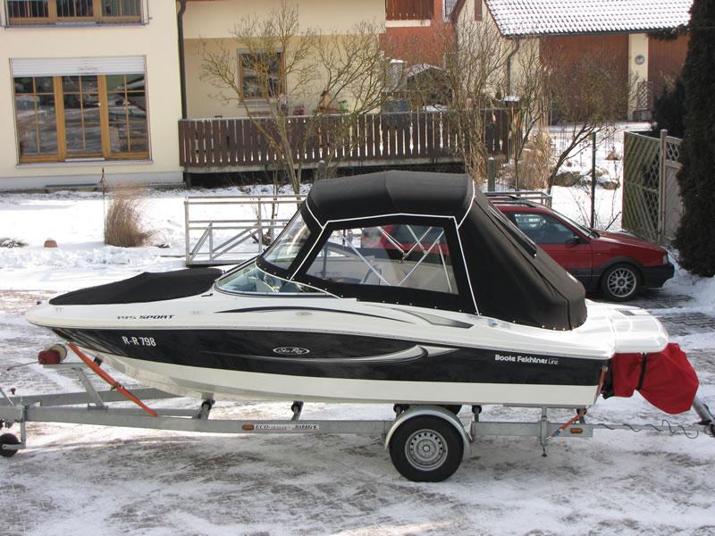 Verdeck Sea Ray 195 Sport Persenning 01