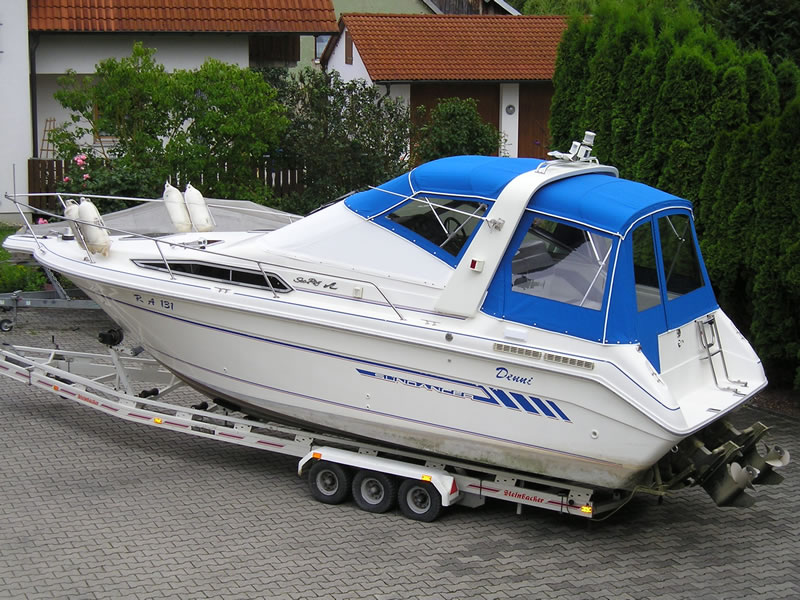 Verdeck Sea Ray 250 Sundancer Persenning  01