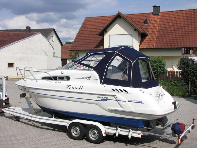 Verdeck Sealine S240 mit Bimini Bootsverdeck Persenning 14