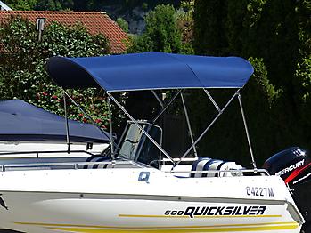 Bimini mit Seitenteilen Quicksilver 500 Commander Open Sonnvenverdeck 04