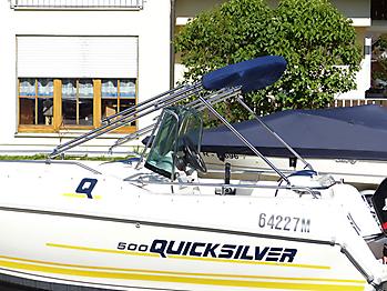 Bimini mit Seitenteilen Quicksilver 500 Commander Open Sonnvenverdeck 18