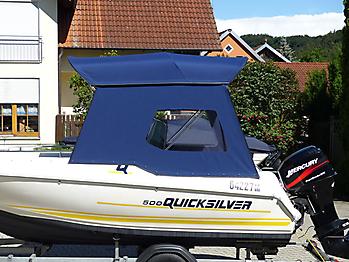 Bimini mit Seitenteilen Quicksilver 500 Commander Open Sonnvenverdeck 21