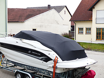 Persenning Crownline 250 CR Weathermax 80 schwarz Bootspersenning 11