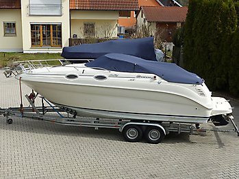 Persenning Sea Ray 240 DA Sundancer Bootspersenning 01