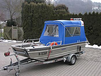 Verdeck Barro RTB 500 Aluminiumboot Bootsverdeck Persenning 05