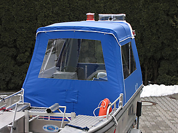 Verdeck Barro RTB 500 Aluminiumboot Bootsverdeck Persenning 06