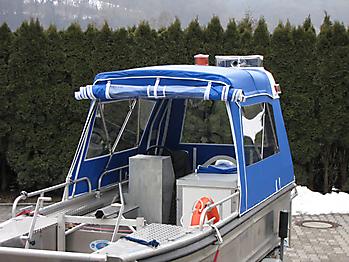 Verdeck Barro RTB 500 Aluminiumboot Bootsverdeck Persenning 07