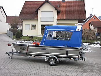 Verdeck Barro RTB 500 Aluminiumboot Bootsverdeck Persenning 08