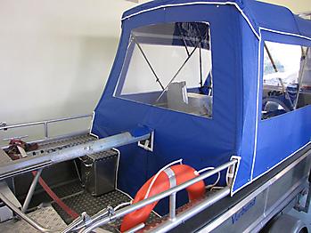 Verdeck Barro RTB 500 Aluminiumboot Bootsverdeck Persenning 22