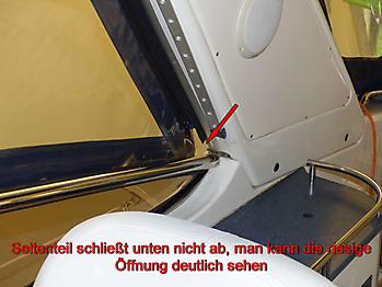 Altes Verdeck Bavaria 29 Sport zum Vergleich 09