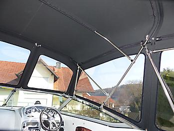 Verdeck Crownline 250 CR mit Edelstahlgestaenge Persenning 22