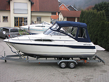 Verdeck mit Gestaenge Edelstahl Monterey 246 SEL Bootsverdeck Persenning 01