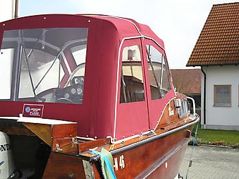 Verdeck Nixe Holzboot Persenning 03