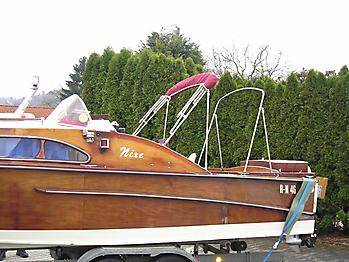 Verdeck Nixe Holzboot Persenning 09